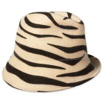 Tarnish Asymmetrical Animal Print Felt Fedora 37$